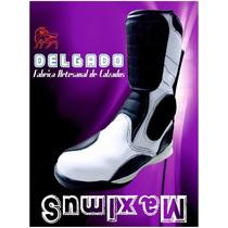 Maximus Blancas - Bota Para Motociclistas