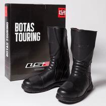 Botas Ls2 Touring Cuero Sintetico Caña Alta Con Proteccione