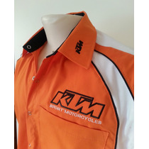 Camisa Ktm Bordada Boxes C/ Broches Motoscba