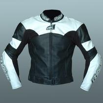 Campera Moto Pista Cuero Racing C/protecciones Proskin