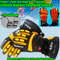 Guantes Termicos Electrico 7.4v 4000mah Impermeable