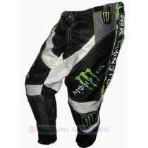Pantalon Motocross Monster Gama Nacional Cordura Reforzado