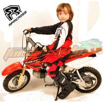 Conjunto Pantalon Y Jersey Rpm Niños Rojo Motocross Atv Quad