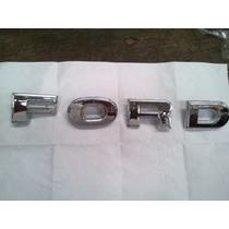Insignia Juego Letras Capot Ford F-100 78/86 Plastico Cromad