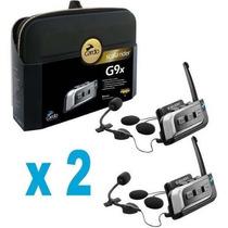 Intercomunicador Scala Riders G9x Kit Completo X 2
