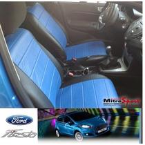 Funda Cubre Asiento Ford Fiesta Kinetic -simil Cuero Acolch.