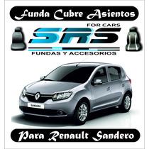 Funda Cubre Asientos De Cuero Ecológico P/renault Sandero