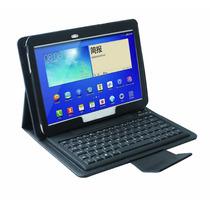 Funda Cuero Teclado Bluetooth Samsung Tab 3 7.0 Estuche