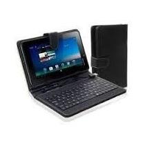 Funda Tablet Noganet 7 Con Teclado Azul, Negro O Blanco**