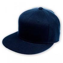 Gorra Visera Plana Color Azul Cap 58 Cm