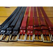 Cinturones De Cuero Lisos Hechos A Mano