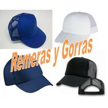 *** Gorras Trucker Camionera Negra Fte Blanco Y Mas Colores!