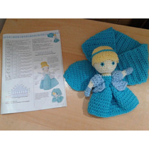 Bufanda Cuellito Princesa Muñeca Cenicienta Al Crochet Lana