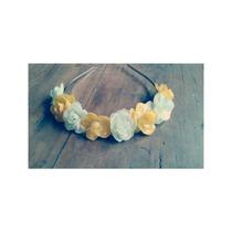 Vinchas Coronas De Flores Rosas Tiara Casamientos Fiestas 15