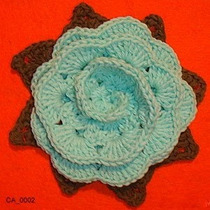 Prendedor, Pin, Corsage Flor De Hilo Tejido Al Crochet