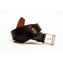 Cinturon De Cuero De Vestir Negro Croco Cueros Liberty