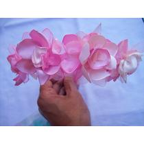 Vincha Con Flores De Tela Todos Los Colores!!!