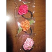 Colitas Con Flores Crochet