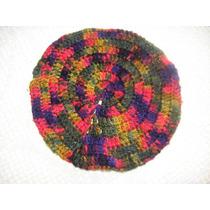 Boina Multicolor Tejida Al Crochet