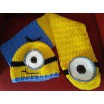 Bufanda Con Gorro Conjunto Tejida A Crochet