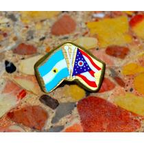 Pin. Argentina Y Puerto Rico. Made In Usa. Sellado.