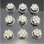 6 Pins Twist Cristal Blanco Flor Para Peinados Quince Novia