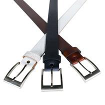 Cinturon Liso Cuero Negro Choco Blanco Almacen De Cueros