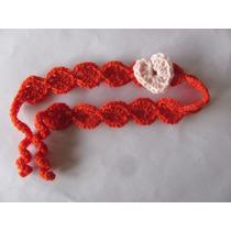 Vincha Al Crochet Con Aplique De Corazón
