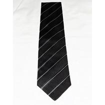 Johsons Corbata Negra A Rayas