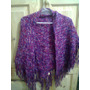 Chal De Telar. Color Violeta