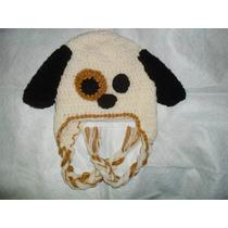 Gorro Tejido Al Crochet Perrito De Invierno Infantil