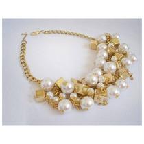 Collar Perlas Dorado / Plateado - Fiestas