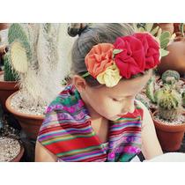 Vincha Coronita Estilo Frida Kahlo