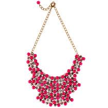 Collar Pectoral Naturaleza Geometric Glam Red Las Penelope