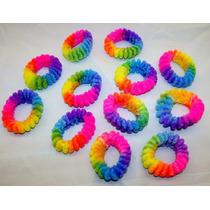 Colitas Para El Pelo Arco Iris Rainbow Como En Los 90!- X 12