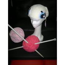 Gorro Tejido Al Crochet Con Ojos Y Orejas