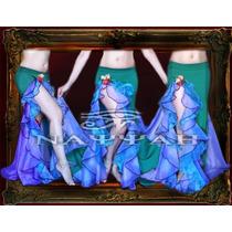 Pollera Lovely Para Danza Arabe -belly Dance-