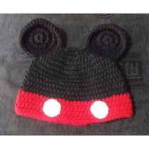 Gorros Lanas Tejidos Al Crochet - Mickey Y Minnie