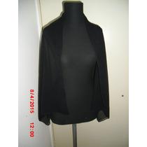 Pashmina Gasa Color Negro Ideal Vestido Noche