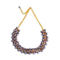 Collar Net Clepatra Grey Pearls Las Penélope