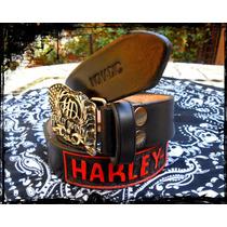 Cinturon Harley Davidson Personalizado Nomadic Cuero