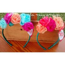 Vinchas Con Flores Artesanales