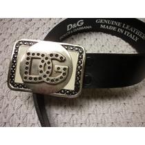 Cinturon Cuero Legitimo Modelo D & G Impecable Usado Una Vez