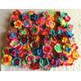Pack X 20 Flores Dobles Tejidas Al Crochet Aplique Souvenir