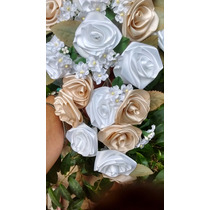 Ramo Y Tocado De Flores Para Novias