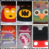 Gorros En Crochet (kitty,minion,minnie,monster Ink,y Mas)