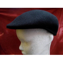 Gorra Boina Con Visera Negro Talle Mediano 57cm Unico