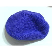 Boina-tejida Crochet-en Color Lila Radiante Grande Doble