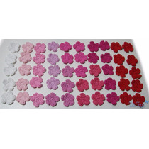 A Pedido Pack X 100 Flores Tejidas Crochet Apliques