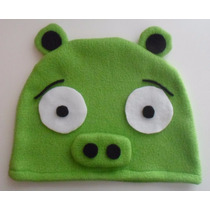 Gorro Polar Angry Birds Chancho Pig Invierno Infantil